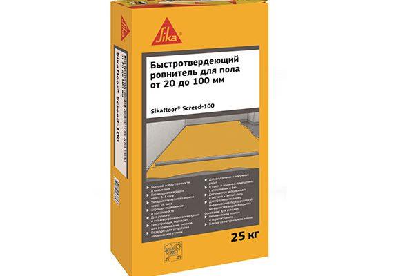 Ровнитель для пола Sika Sikafloor Screed-100 (20-100 мм, 30 МПа) 25кг