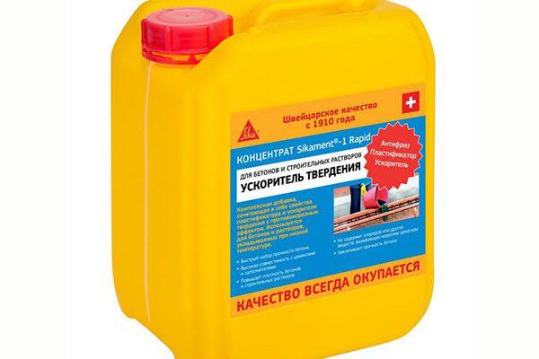 Добавка Sikament-1 Rapid ускоритель твердения для бетона и растворов 1л