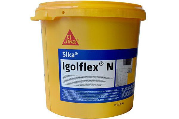 Гидроизоляция Sika Igolflex N битумнополимерная, 25 кг.
