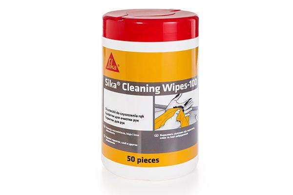 Салфетки очищающие для рук Sika Cleaning Wipes-100 (туба 50 салфеток)
