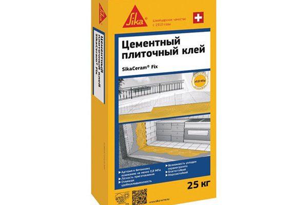Клей для плитки Sika SikaCeram Fix (C0T) серый, 25кг