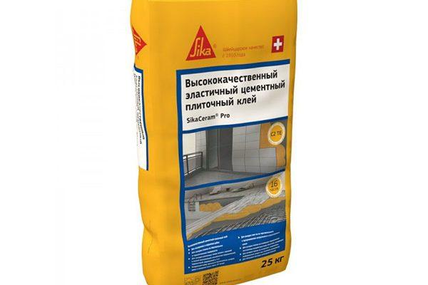 Клей для плитки Sika SikaCeram Pro (C2TE) серый, 25кг