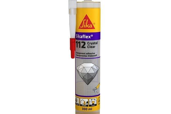 Герметик-клей Sika SikaFlex 112 Crystal Clear, прозрачный 290мл