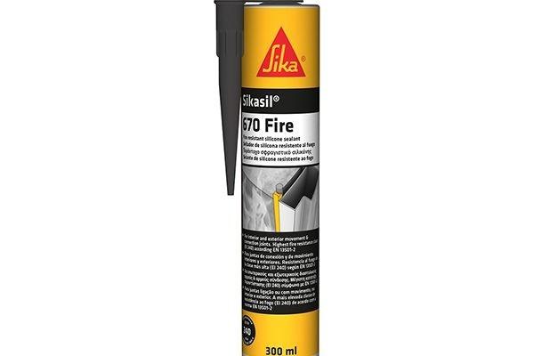Герметик Sika Sikasil Fire 670 силикон огнестойкий, серый 600мл